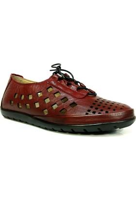 Darkwood 74215 Bordo Bağcıklı Günlük Kadın Ayakkabı