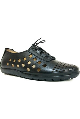 Darkwood 74215 Siyah Bağcıklı Günlük Kadın Ayakkabı