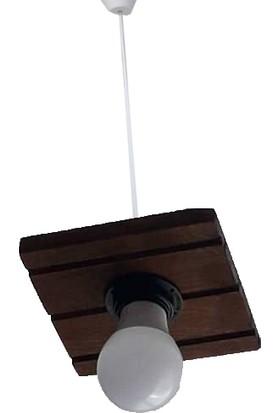 Livawood Oak Connectıon Eskitme Rustik Tekli Avize