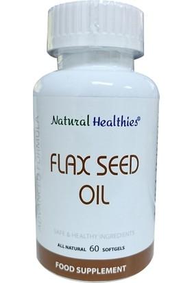 Natural Healthies Flax Seed Oil 60 Yumuşak Jel
