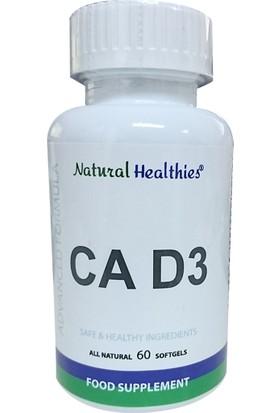 Natural Healthies CA D3 60 Yumuşak Jel