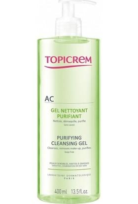 Topicrem Ac Purifying Cleansing Gel 400 ml Yağlı ve Akneli Ciltler İçin Yıkama Jeli