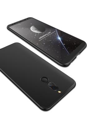 Case 4U Huawei Mate 10 Lite 360 Derece Korumalı Tam Kapatan Koruyucu Kılıf - Siyah