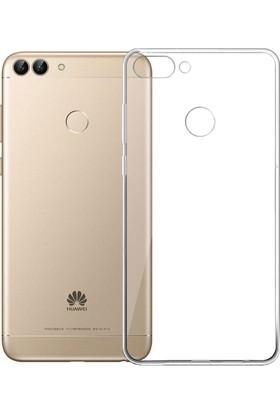 Case 4U Huawei P Smart Kılıf Şeffaf Silikon Arka Kapak