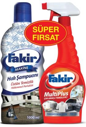 Fakir Halı Şampuanı Matik 1000 ml & Fakir Multi Plus 750 ml İkili Set