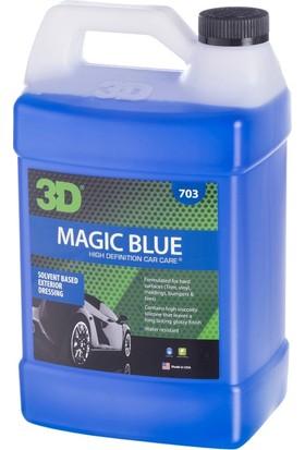 3D Magic Blue Solvent Bazlı Lastik Parlatıcı 3,79 lt. 703G01