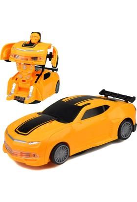 Power Hob Oyuncak Savaşçı Robot Dönüşen Araba 17 Cm