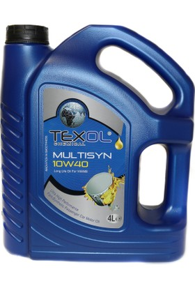 Texol Multisyn 10W/40 (Üretim Yılı : 2018) 4 Lt.