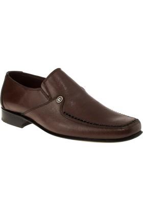 Alisolmaz 073 Kösele Bağsiz Klasik Taba Erkek Ayakkabı