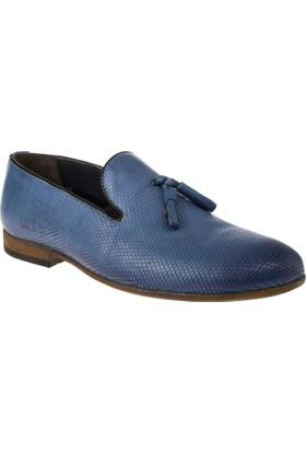 Alisolmaz 6540-5 8y Bağsiz Klasik Mavi Erkek Ayakkabı