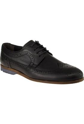 Alisolmaz 71170 Yakma Lazerli Günlük Siyah Erkek Ayakkabı