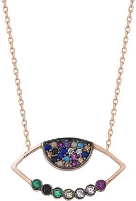 Paljewelry Renki Taşlı Göz Kolye