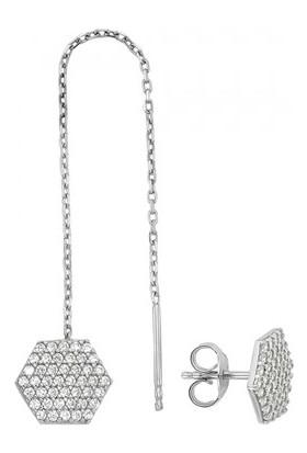 Paljewelry Farklı Çift Altıgen Küpe