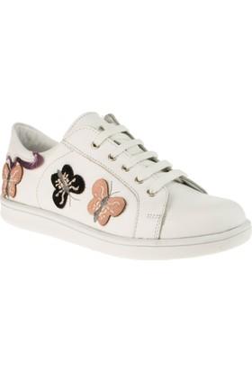 Perlina 007 Bağlı Beyaz Çocuk Spor Ayakkabı