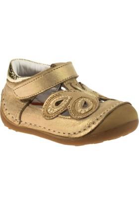 Perlina 2001 İlkadim Tek Cirtli Altın Çocuk Ayakkabı