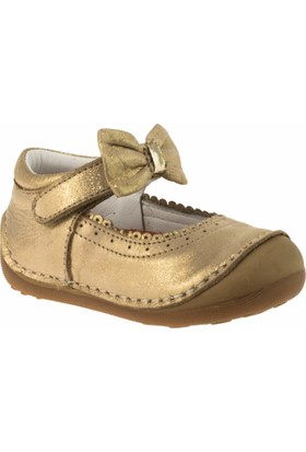 Perlina 2008 İlkadim Cirtli Fiyonklu Altın Çocuk Ayakkabı