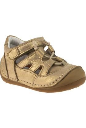 Perlina 2009 İlkadim Tek Cirtli Altın Çocuk Ayakkabı