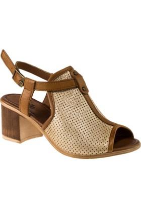 Stella 18089 Tek Toka Altın Kadın Sandalet