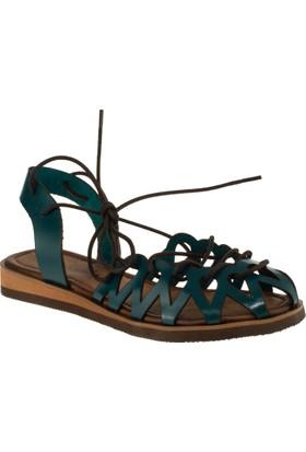 Stella 8013 İpli Yeşil Kadın Sandalet