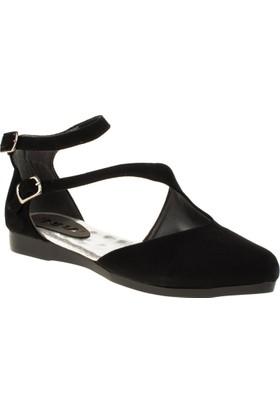 İnna 01135 Çift Bant Siyah Kadın Ayakkabı