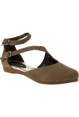 İnna 01135 Çift Bant Vizon Kadın Ayakkabı