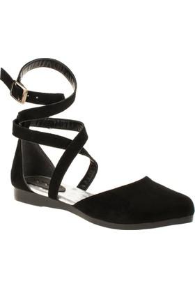 İnna 01136 Çift Bant Siyah Kadın Ayakkabı