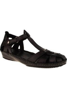 Greyder 51266 Comfort Siyah Kadın Sandalet