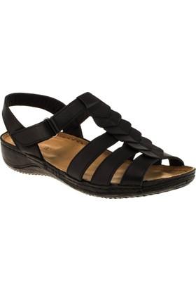 Greyder 54622 Comfort Siyah Kadın Sandalet