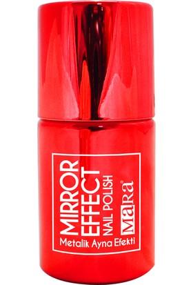 Mara Metalik Ayna Efektli Oje Kırmızı