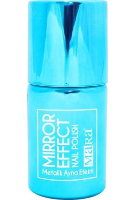 Mara Metalik Ayna Efektli Oje Mavi