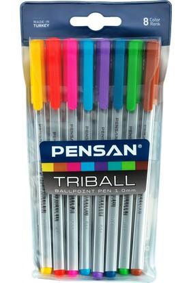 Pensan Triball Tükenmez Kalem Renkli 8 Li