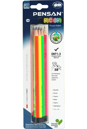 Pensan Neon Kurşun Kalem 10 Lu