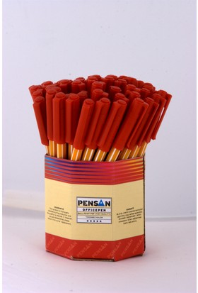 Pensan Offispen Tükenmez Kalem 1 Mm 60 Adet Kırmızı