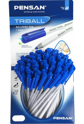 Pensan Trıball Tükenmez Kalem Mavi 60 Lı Stand