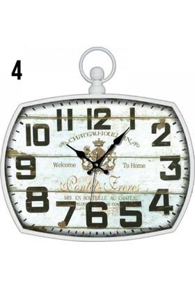Time Gold Dekoratif Eskitme Metal Duvar Saati AK831