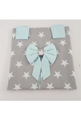 Modastra Gri Beyaz Yıldız Desenli Puset Örtüsü + İç Kılıfı