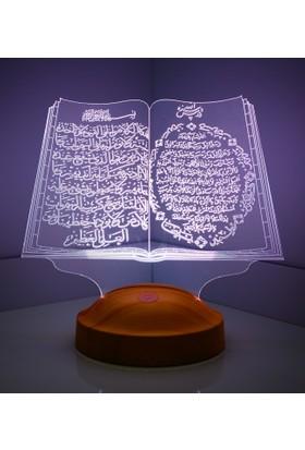 3D Led Lamba Kuran-ı Kerim