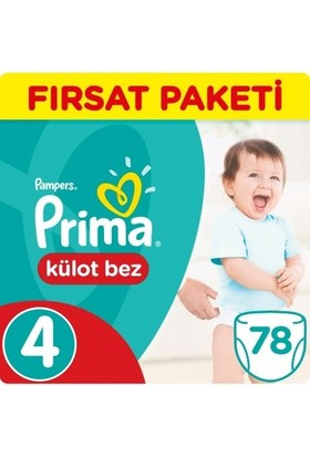 Prima Külot Bebek Bezi 4 Beden Maxi Fırsat Paketi 78 Adet