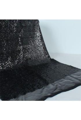 Modastra Siyah Pullu Payet Kumaş