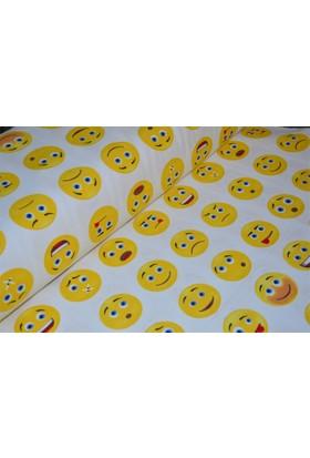 Modastra Emoji Döşemelik Duck Bezi Kumaş