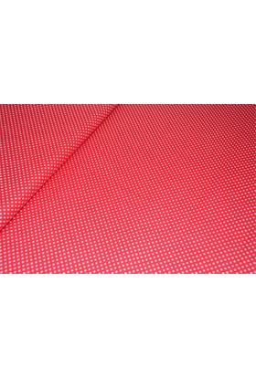 Modastra Kırmızı Puantiyeli Poplin Kumaş