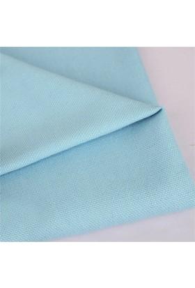 Modastra Bebe Mavisi Düz Renk Duck Bezi Kumaş