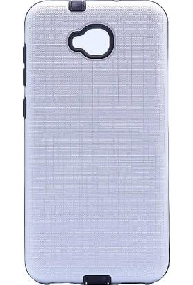 CoverZone Asus Zenfone 4 Selfie ZD553KL Youyou Silikon Kapak Kılıf - Gümüş