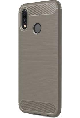 CoverZone Huawei P20 Lite Room Silikon Kapak Kılıf - Antrasit