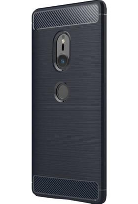 CoverZone Sony Xperia XZ2 Room Silikon Kılıf - Lacivert