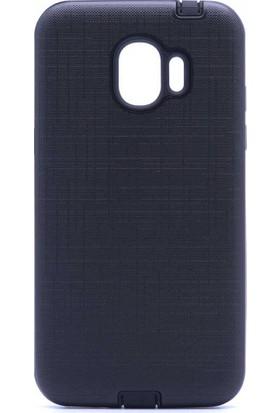 CoverZone Samsung Galaxy J2 Pro 2018 Youyou Silikon Kapak Kılıf - Siyah