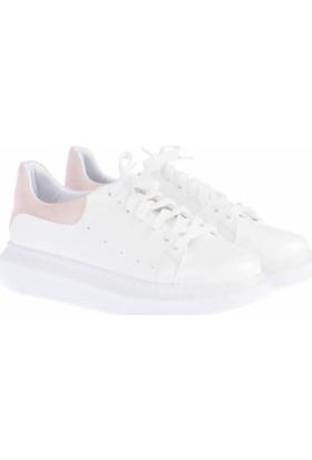 Pembe Potin Alessandra Beyaz Pembe Kadın Ayakkabı