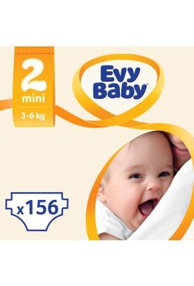 Evy Baby Bebek Bezi Mini 2 Beden Jumbo Ekonomik Aylık Paket 156 Adet