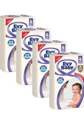 Evy Baby Bebek Bezi Maxi 4 Beden Jumbo Ekonomik Aylık Paket 180 Adet