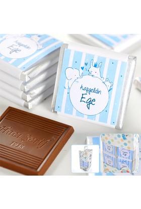 Hacı Şerif Kişiye Özel İsimli Erkek Bebek Dökme Çikolatası (70 Madlen Çikolata)